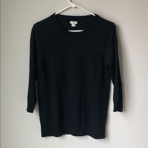 Black J. Crew Tippi sweater